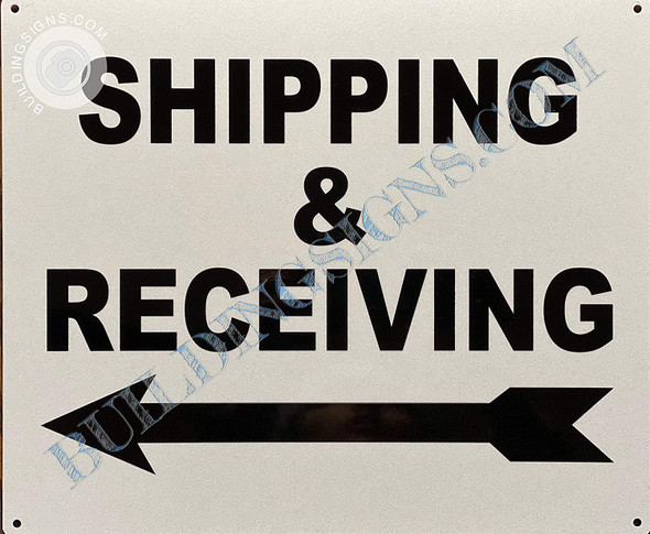 Signage Shipping & Receiving  - Left Arrow