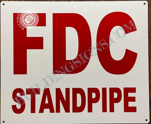 Sign Fdc Standpipe - fire Department Connection Standpipe
