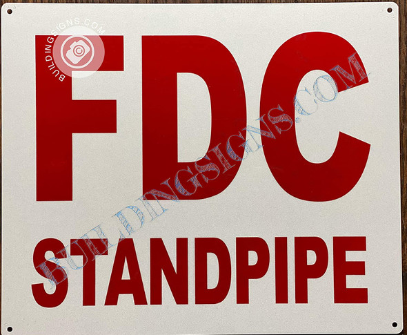 Signage Fdc Standpipe - fire Department Connection Standpipe