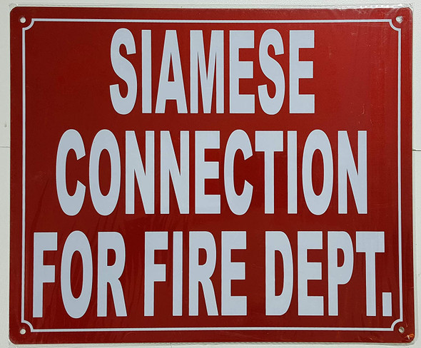 Siamese Connection for FIRE Department Sign
