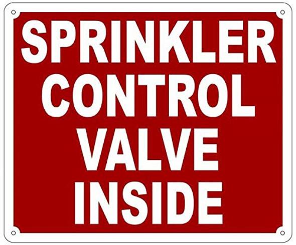 Sprinkler Control Valve Inside Sign