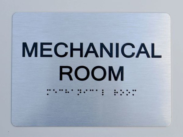 Mechanical Room ADA Sign -Tactile Signs