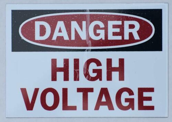 SIGNS DANGER HIGH VOLTAGE SIGN (ALUMINUM SIGNS