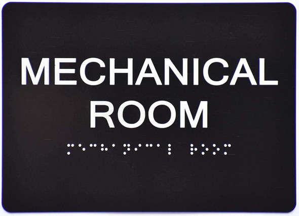 Mechanical Room Sign -Tactile Signs Tactile