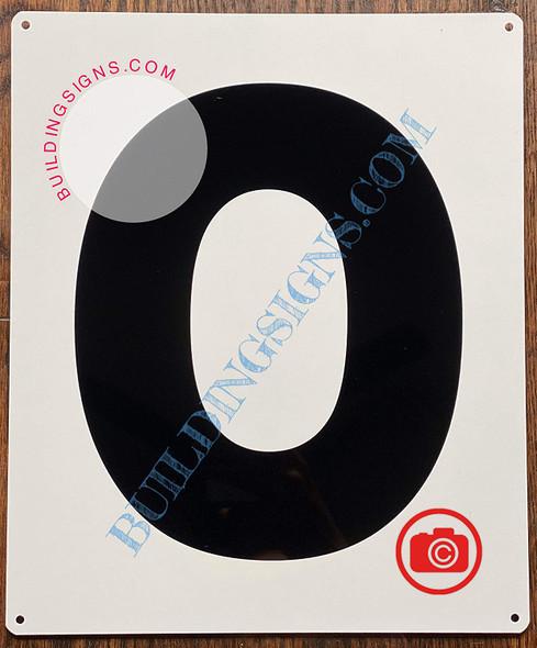 Large Number 0 Sign -Metal Sign - Parking LOT Number Sign