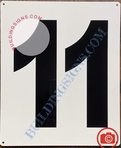 Large Number 11 Sign -Metal Sign - Parking LOT Number Sign