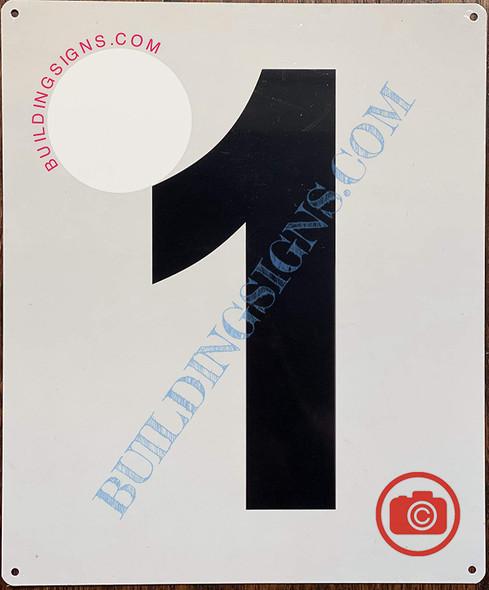 Large Number 1 Sign -Metal Sign - Parking LOT Number Sign
