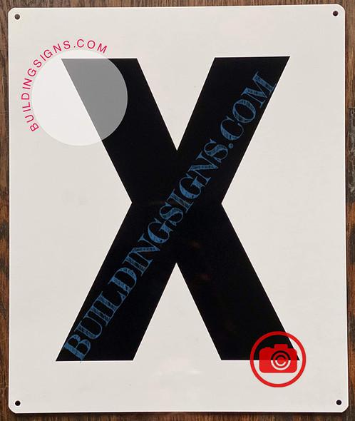 Large Letter X -Metal Sign - Parking LOT Sign