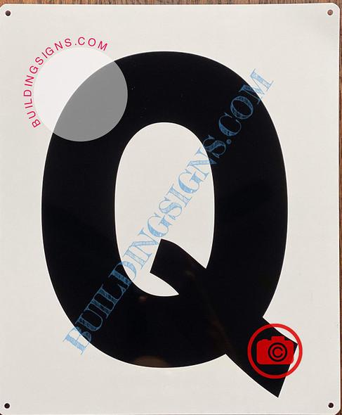 Large Letter Q-Metal Sign - Parking LOT Sign