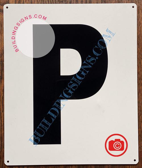Large Letter P -Metal Sign - Parking LOT Sign