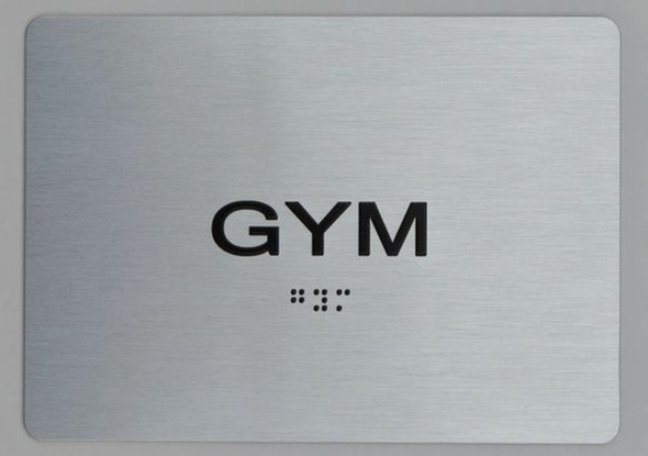 GYM ADA Sign -Tactile Signs