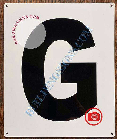 Large Letter G -Metal Sign - Parking LOT Sign