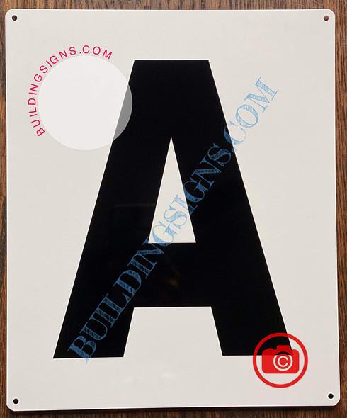 Large Letter A -Metal Sign - Parking LOT Sign