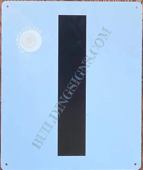 Large Letter I -Metal  - Parking LOT  Singange