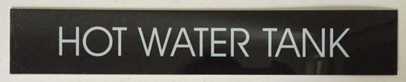 HOT WATER TANK SIGN – BLACK