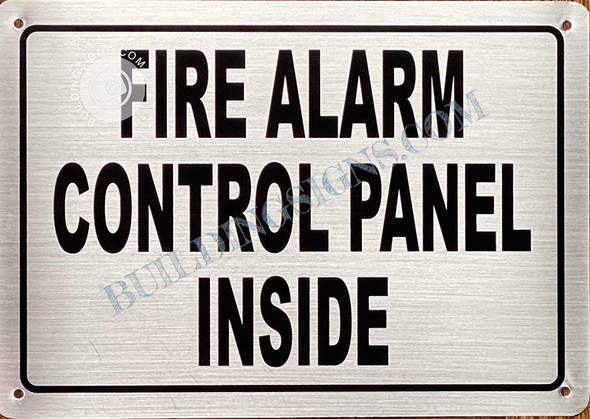 FIRE Alarm Control Panel Inside Sign- FACP Inside Sign