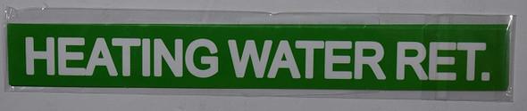 HOT WATER RETURN SIGN (STICKER 1X8)