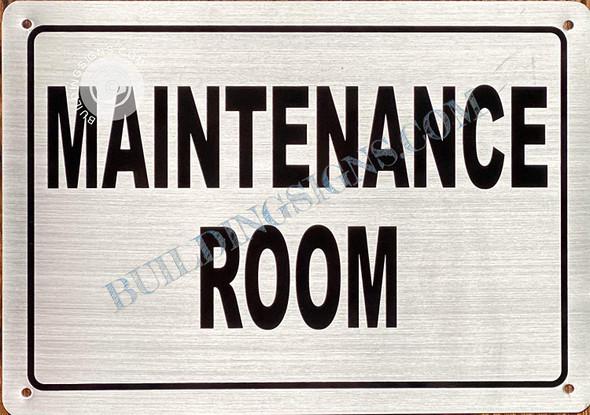 Maintenance Room Sign