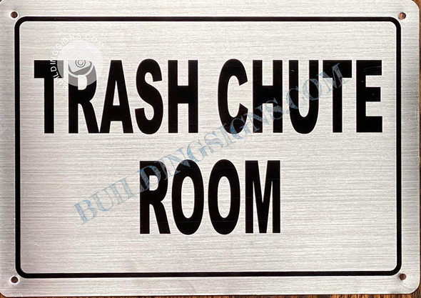 Trash Chute Room Sign