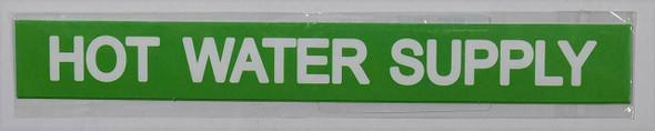 HOT WATER SUPPLY SIGN (STICKER 1X8)