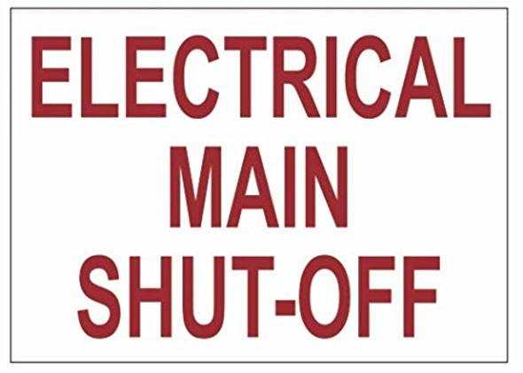 Electrical Main Shut-Off Label
