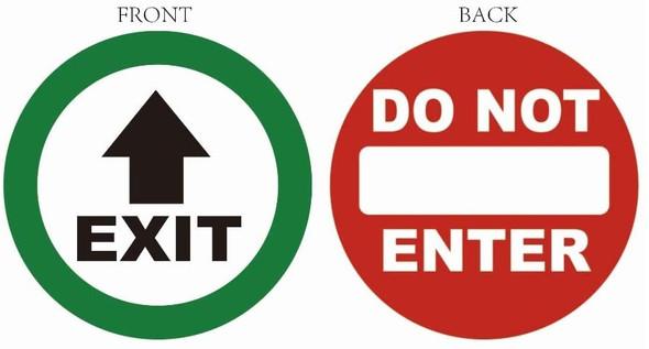 EXIT / DO NOT Enter Sticker Window Sticker Decal  Singange