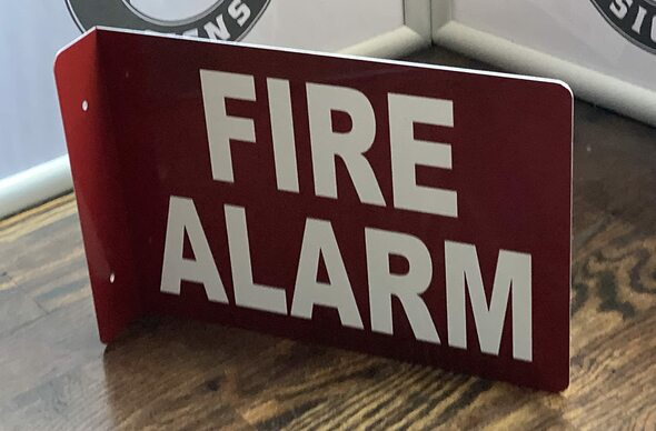FIRE Alarm Projection Sign-FIRE Alarm Inside 3D Sign  Aluminium,