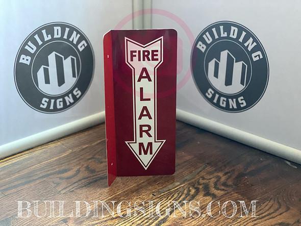 FIRE Alarm Arrow Down Projection -FIRE Alarm Arrow Down Hallway Singange