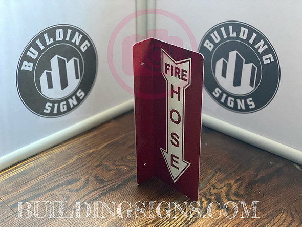 FIRE Hose Arrow Down Projection -FIRE Hose Hallway   Singange