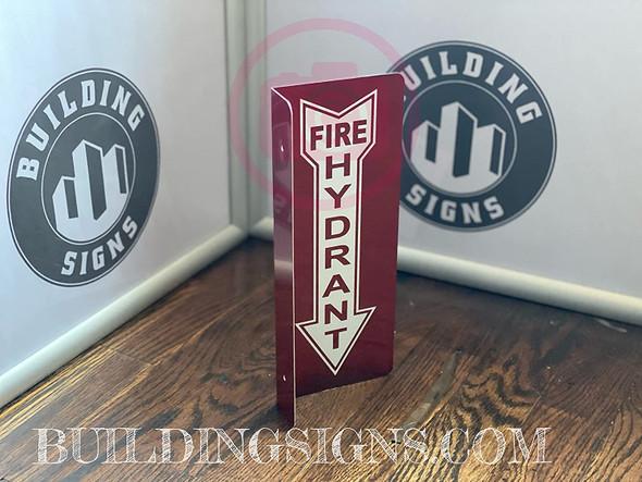 FIRE Hydrant Arrow Down Projection -FIRE Hydrant Arrow Down Hallway Singange