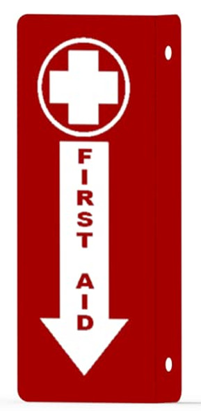 First AID Arrow Down Projection Sign-First AID Hallway Sign