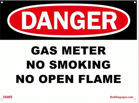 DANGER Gas Meter No Smoking No
