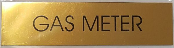 SIGNS GAS METER SIGN - GOLD ALUMINUM