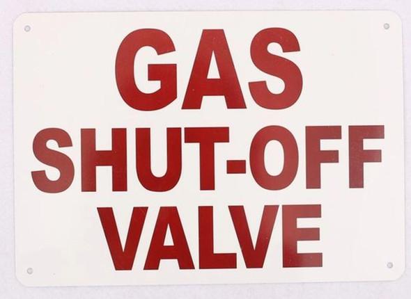 GAS SHUT-OFF VALVE LOCATED INSIDE SIGN-