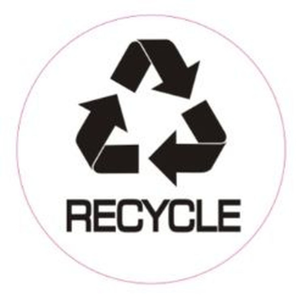RECYCLE STICKER -SIGN (STICKER, CIRCLE 4X4)