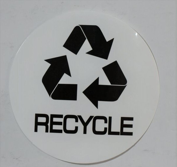 SIGNS RECYCLE STICKER -SIGN (STICKER, CIRCLE 4X4)