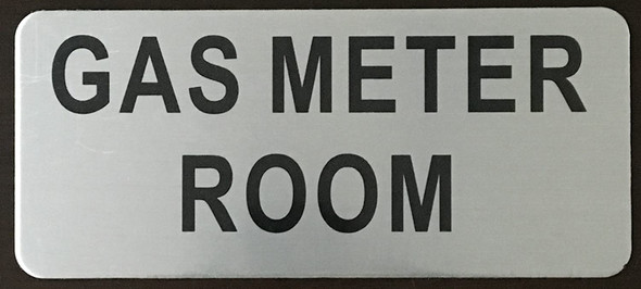 SIGNS GAS METER ROOM SIGN – BRUSHED