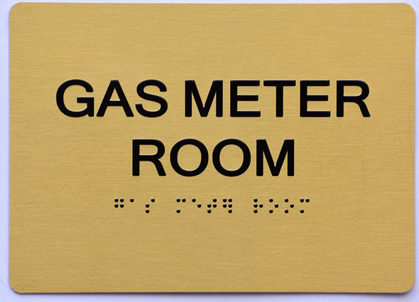 GAS METER ROOM Sign -Tactile Signs
