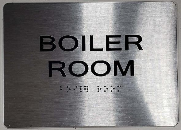 BOILER ROOM ADA Sign -Tactile Signs