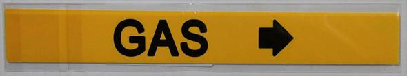 GAS RIGHT ARROW SIGN (STICKER 1X8)