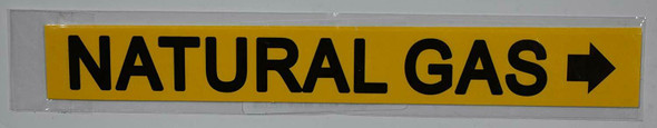 NATURAL GAS SIGN RIGHT ARROW (STICKER