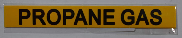 SIGNS PROPANE GAS SIGN (STICKER 1X8) YELLOW-(ref062020)