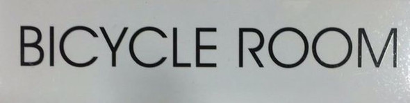 BICYCLE ROOM SIGN - PURE WHITE