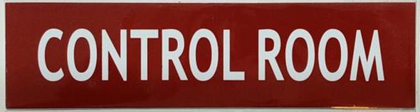 CONTROL ROOM SIGN - RED (ALUMINUM