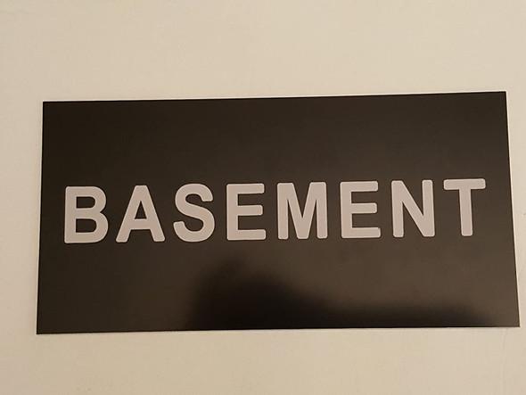 Floor number Basement sign Engraved Plastic