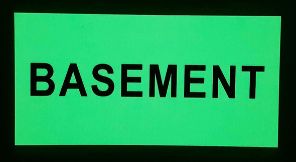 SIGNS BASEMENT SIGN - PHOTOLUMINESCENT GLOW IN