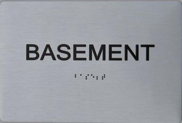 BASEMENT ADA Sign -Tactile Signs
