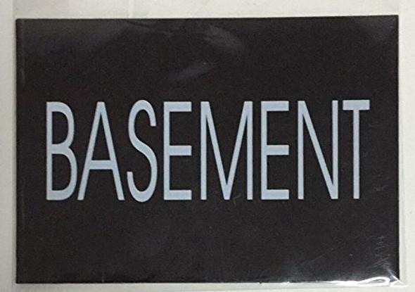 BASEMENT SIGN - BLACK (ALUMINUM SIGNS