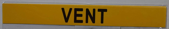 SIGNS VENT SIGN (STICKER 1X8) YELLOW-(ref062020)