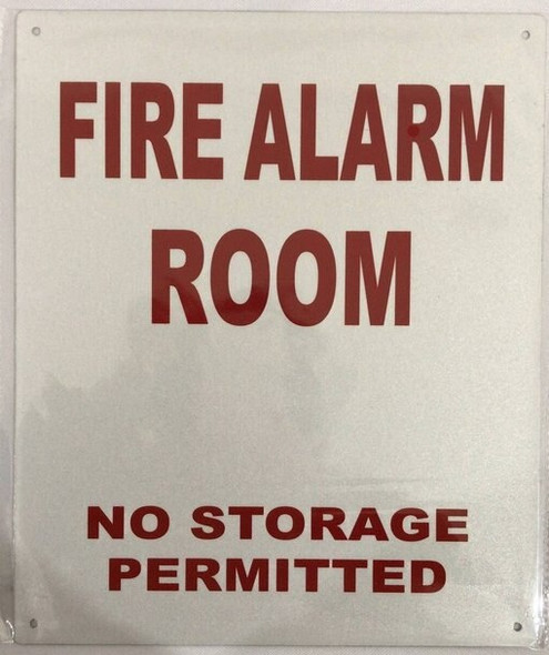 SIGNS FIRE ALARM ROOM NO STORAGE PERMITTED